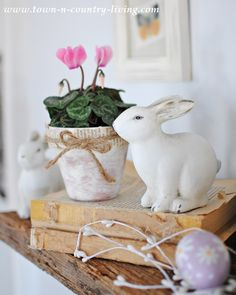 Spring and Easter decorating gives me just the excuse I need to bring pastels into my home.