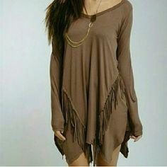 Yolanda <3 Size small fringe dress Twang Boutique  Dresses Mini