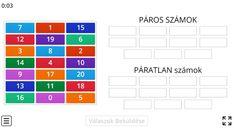 Páros, páratlan számok - Matek 1. osztály FELADAT - Kalauzoló - Online tanulás Paros, Periodic Table, Periodic Table Chart, Periotic Table