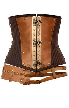 Steampunk inspired leather corset