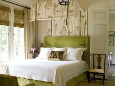 Yesil & beyaz yatak odasi..