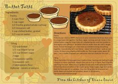 Freebie Mondays....my recipe for Butter Tarts that are scrumptious!