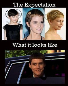 What I anticipate will happen when I finally go for a pixie cut...