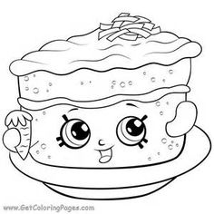 Shopkins Season 6 Carrot Cake Coloring Page - ScribbleFun Shopkins Coloring Pages Free Printable, Shopkin Coloring Pages, Letter A Coloring Pages, Cute Coloring Pages, Coloring Pages To Print, Adult Coloring Pages, Coloring Pages For Kids, Coloring Sheets, Coloring Books