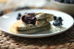 Brown - Butter Crepes with Fresh Blueberry Jam & Mascarpone Cheese @Ashley Manila
