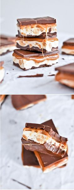 HOMEMADE SNICKERS BARS! I howsweeteats.com
