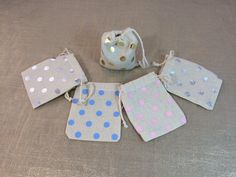 Polka dot party favor bags  set of 10  in 2 by MyPillowShoppe