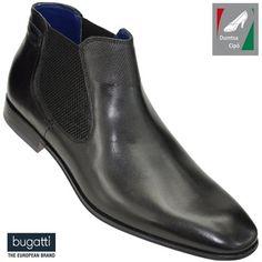 Bugatti férfi bőr bokacipő 311-10120-1000-1000 fekete