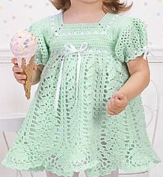 This is a beautiful and classic dress for the miniature women in your family. The loosely stitched lotus skirt is nicely offset by the densely stitched bodice. While it can be made in any color, or even color combination, single light hues are a definite preference. Making it out of soft and/or hypoallergenic yarn will make it even more appropriate for a baby. For more free designs every day follow us onFacebook.Link to the free pattern is below. If you enjoyed this article please like...