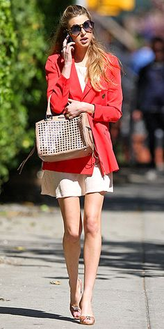 Whitney Port carrying a Rebecca Minkoff bag