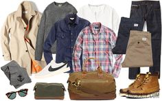 This would be a pretty awesome fall wardrobe. Like the inclusion of a henley.