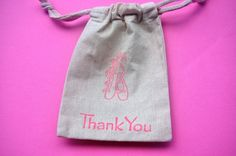 Muslin Thank you bags-etsy