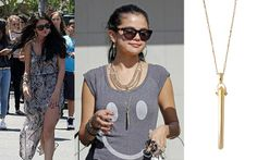 Selena Gomez wearing the Rebel Pendant Necklace by Stella & Dot  Shop this look at: www.shaylanewman.com