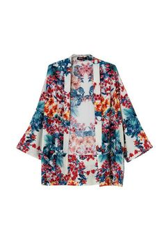 Rainbow kimono beach kimono lounge-wear women by NeidesBoutique Kimono Floral, Floral Jacket, Floral Cardigan, Jumpers For Women, Coats For Women, Women's Jumpers, Different Color Dress, Printed Bomber Jacket, Print Jacket