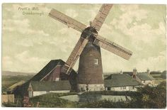 Pratts Mill, Crowborough, in the early 1900s. Sussex postcard Crowborough Pratt's Mill Windmill | eBay