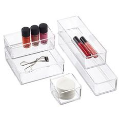 Acrylic Stackable Drawer Organizers | The Container Store