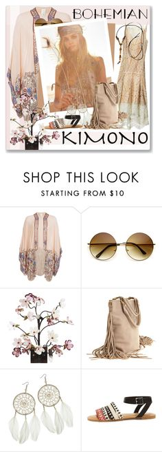 """Contest Kimono Cool"" by oleahg ❤ liked on Polyvore featuring Anna Sui, Canopy Designs, Dorothy Perkins and kimonos"