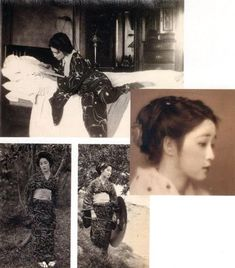 "O You お葉 (1904-1980) , real name ; ""Nagaika-ko Yo - Kaneyo"" 永井カ子ヨ - かねよ Model & lover of Takehisa Yumeji 竹久夢二 (1884-1934) at Hongou Kiku Fuji hoteru 本郷菊富士ホテル - 1920s"