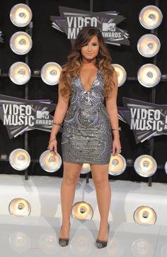 Demi Lovato Silver dress
