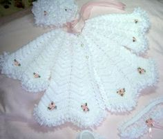 Crochet A line coat & hats / baby girl clothing / gift ideas / newborn set . by TinasHandicraftGr on EtsyP bebe crochet baby jacket and dress, To the beloved remains. Talk to LiveInternet - Russian Service Online Diaries, Scheme knitting white dresH Crochet Baby Jacket, Knitted Baby Cardigan, Crochet Baby Clothes, Crochet Poncho, Cardigan Pattern, Baby Girl Sweaters, Baby Girl Hats, Crochet Bebe, Crochet Gifts