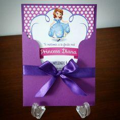 Invitación infantil Princesa Sofia
