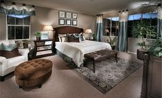 Beautiful master bedroom from @LennarCACoastal