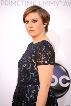 Lena Dunham in Prada at the 2012 Emmys.