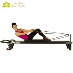oblique variation pilates reformer exercise 2