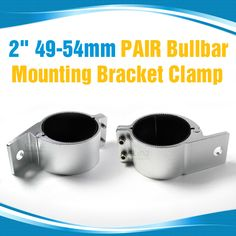 This pair bullbar mounting bracket is made from highest quality, perfect for mounting your LED bars and other auxilliary lights in place. Comes in silver. Led Light Bars, Mounting Brackets, Bar Lighting, Clamp, Pairs, Lights, Silver, Key, Steel