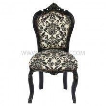 Barok stoel zwart-barok print