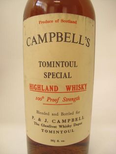 campbell whiskey labels | WHISKY PARADISE - There are more than 40000 old bottles in our cellars