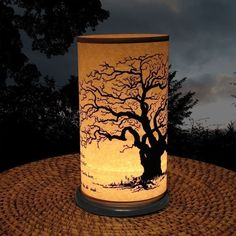 Candle Holder (Shoji Candle Lantern Large Tree) Home decor Lighting candles gifts - idoor lighting - outdoor lighting - sprng gift on Etsy, Verkauft