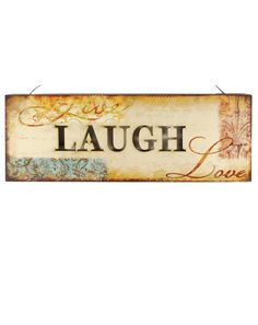 """Decorative """"Live Laugh Love"""" Wall Sign with LED Light (Set of 2)"""