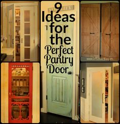 9 Ideas for the Perfect Pantry Door - pantry redo Painted Pantry Doors, Kitchen Pantry Doors, Pantry Laundry Room, Kitchen Pantry Design, Kitchen Ideas, Screen Door Pantry, Laundry Doors, Kitchen Decor, Pantry Cupboard