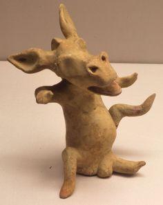 Terracotta figurine of actor as donkey 5th century BC Staatliche Antikensammlungen 01.jpg