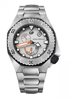Girard Perregaux 49960-11-131-11A Sea Hawk Vintage-Style - швейцарские мужские наручные часы - стальные, белые