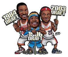 NBA Legends by rhurst on DeviantArt Basketball Photos, Basketball Art, Basketball Legends, Nba Wallpapers, Nba Draft, Basket Ball, Kid Character, Sports Pictures, Sports Art