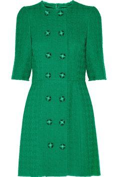 Dolce & Gabbana | Wool-blend tweed mini dress | NET-A-PORTER.COM