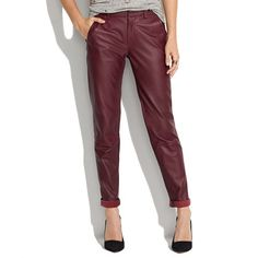 Leather Slim Trousers - pants - Women's PANTS & SHORTS - Madewell