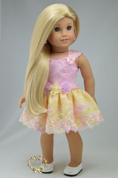 American girl doll clothes Formal short length by PurpleRoseNY