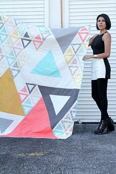 Minimalista   Acute Triangle Quilt    Flickr - Photo Sharing!