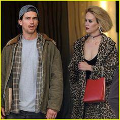 Matt Bomer Films 'AHS: Hotel' Scenes with Sarah Paulson