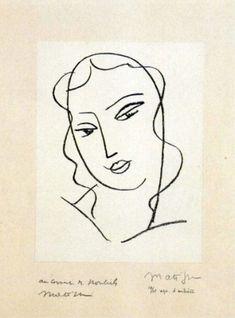 I disegni di Matisse donati a Paolo VI, Studio per la testa della Vergine III, 1950-51, litografia n,13/15 prova d'artista, 32x24,5 cm, inv.338