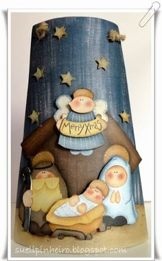 Christmas Crafts, Xmas, Estilo Country, Christmas Paintings, Baby Online, Decoupage, Teddy Bear, Baby Shower, Pintura Country
