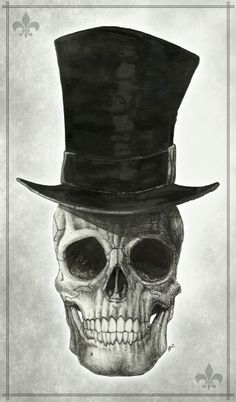 Skull with a Top Hat