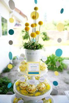 """""""Sprinkled with love"""" baby shower. One of the cutest I've seen in awhile. Love the colors. // hwtm"""