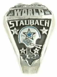 Roger Staubach 1977 Dallas Cowboys Super Bowl XII Salesman's Sample Ring