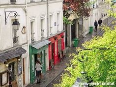 The streets of Montmarte :-) would be so happy if i found an apartment there