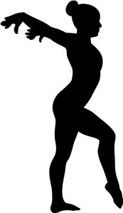 think I m in love with this shape from the Silhouette Online Store Gymnastics Silhouette Cartwheel
