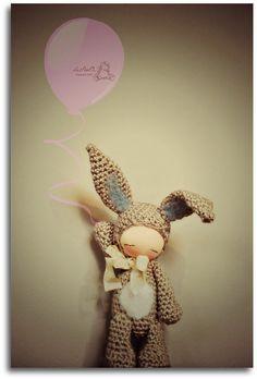 Titi Bunny - Ready to Fly Away, by LesPouPZ Handmade Dolls